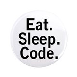 Eat. Sleep. Code. 3.5&quot; Button (100 pack)