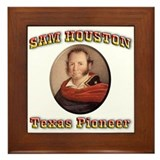 Sam Houston Framed Tile