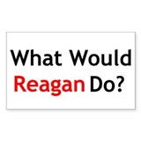 What Would Reagan Do? Rectangle Decal