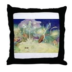 The Fairy Circus Throw Pillow