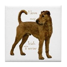 """""""Irish Terrier"""" Tile Coaster"""