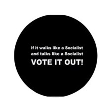 "Socialist Vote It Out 3.5"" Button"