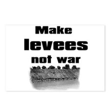 Make Levees Not War Postcards (Package of 8)