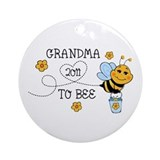 Grandma To Bee MacKinnon Ornament (Round)