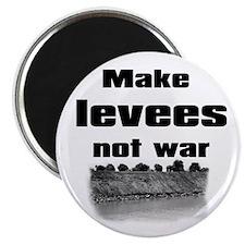 """Make Levees Not War 2.25"""" Magnet (100 pack)"""