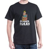 GRANDPA RULES Black T-Shirt