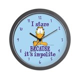 I Stare Because... Garfield Wall Clock
