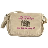 My Mommy Shoots- Pink Messenger Bag