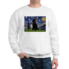 Starry Night Black Poodle Sweatshirt