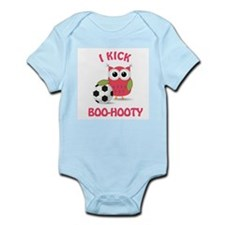Owl with soccer ball with say Infant Bodysuit