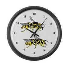 Wasps Large Wall Clock