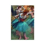 Degas - Pink & Green Rectangle Magnet