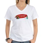 God Told Everyone to Hate You Women's V-Neck T-Shi