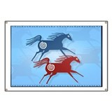 Two Ancient Horses Banner