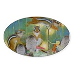 The Fairy Circus Sticker (Oval 50 pk)