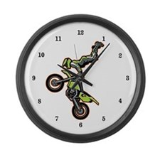 Freestyle Motocross Large Wall Clock