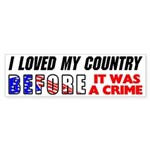 """""""Before It Was A Crime"""" Sticker"""
