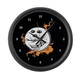 Bowling Ball with Flames Large Wall Clock