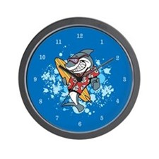 Shark Cartoon Wall Clock