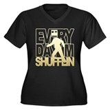 Everyday Shufflin Gold Blockh Women's Plus Size V-