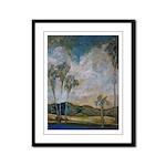 California Valley Framed Panel Print