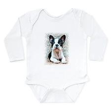 French Bulldog Long Sleeve Infant Bodysuit