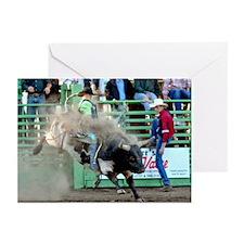 Bull Riding Greeting Cards (Pk of 10)