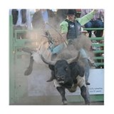 Bull Riding Tile Coaster