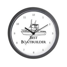 Best Boatbuilder Wall Clock