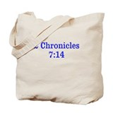 2 Chr 7:14 Cross HS Tote Bag
