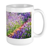 Monet - Irises in Garden Ceramic Mugs