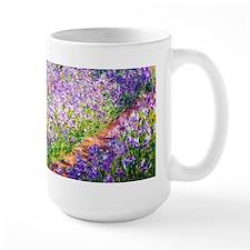 Monet - Irises in Garden Ceramic Mugs