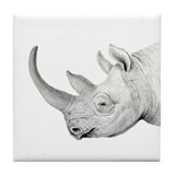 Tile Coaster black rhino