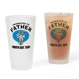 Personalized New Father Drinking Glass