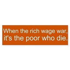 Occupy Wall St. - the rich wage war & the poor