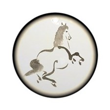 Calligraphy Horse Ornament (Round)