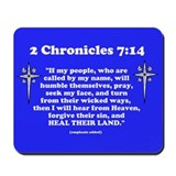 2 Chr 7:14 Cross HS Mousepad
