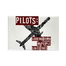 Pilots, Funny Rectangle Magnet