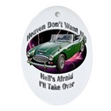 Austin Healey 3000 Ornament (Oval)
