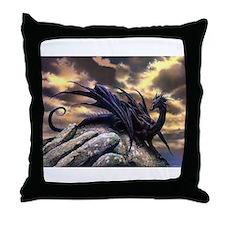Black Dragons Throw Pillow