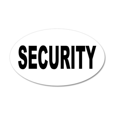 Security 38.5 x 24.5 Oval Wall Peel