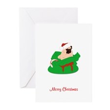 Pug Present Bag Greeting Cards (Pk of 20)