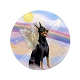 "Dobie Angel in Clouds 3.5"" Button"