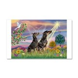Cloud Angel & Dobie Pair Car Magnet 20 x 12