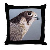 Peregrine Falcon Throw Pillow