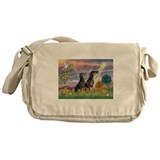 Cloud Angel & Dobie Pair Messenger Bag