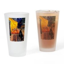 Cafe & Dobie Drinking Glass