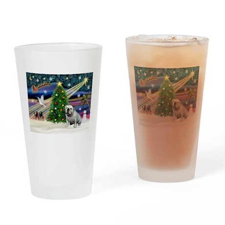 Xmas Magic & Bulldog Drinking Glass