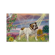 Cloud Angel & English Bulldog Rectangle Magnet (10