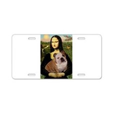 Mona's English Bulldog Aluminum License Plate